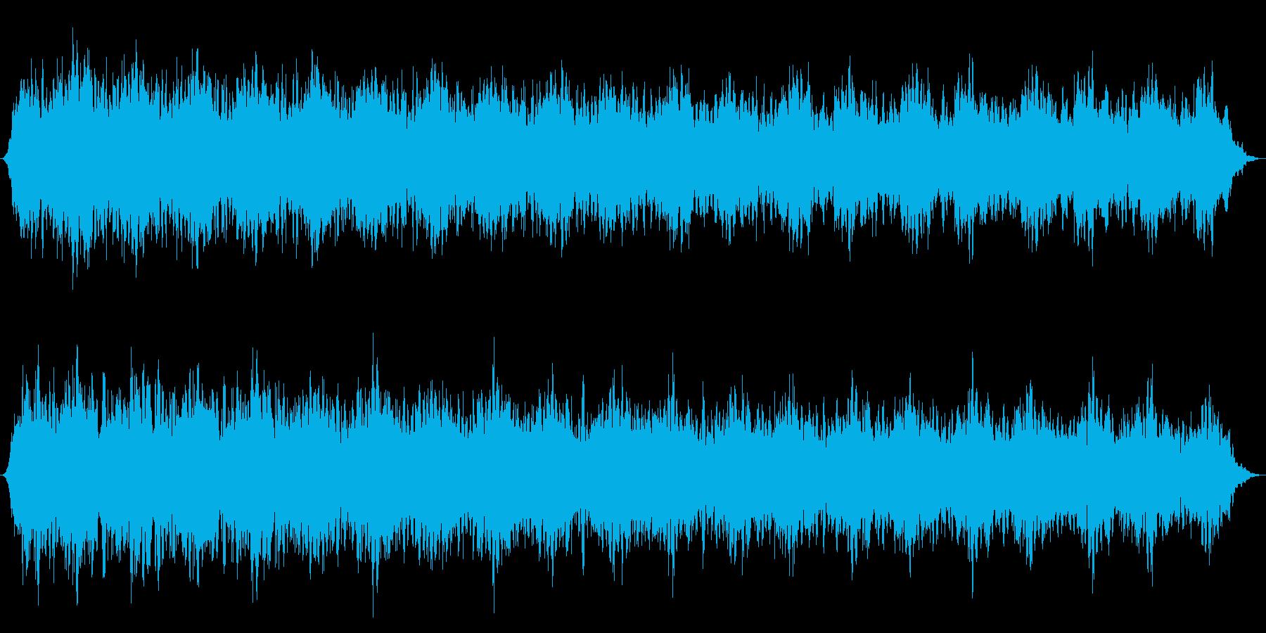 スローシャッターシンセドローンの再生済みの波形