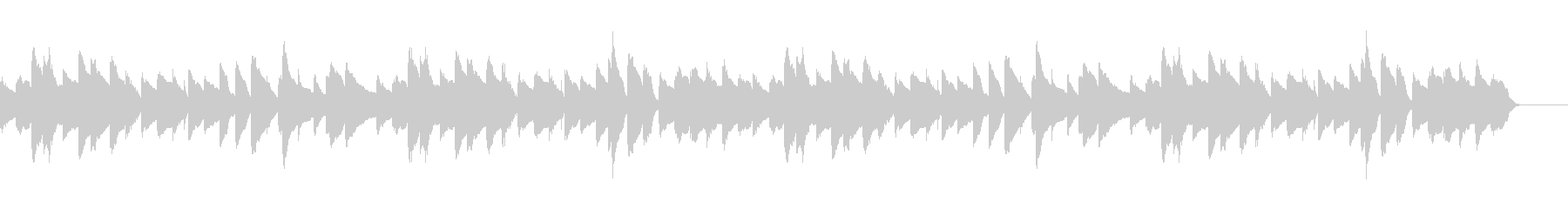 まったりほのぼのとした3拍子のピアノ曲の未再生の波形