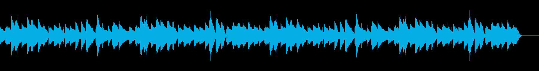 まったりほのぼのとした3拍子のピアノ曲の再生済みの波形