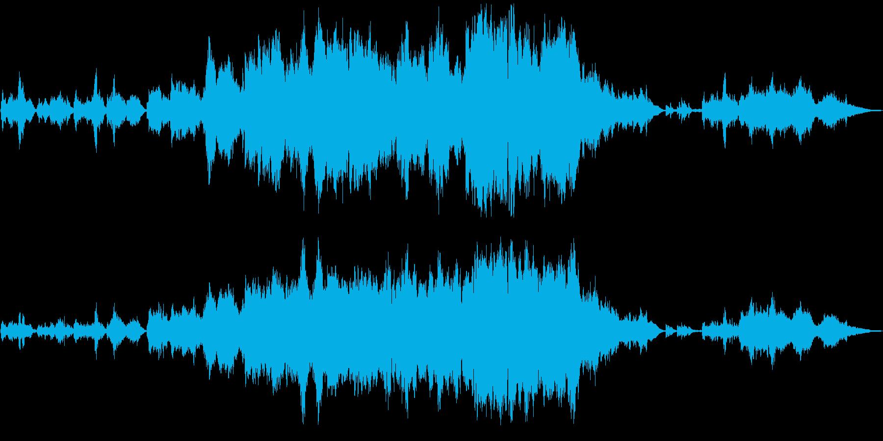 生演奏ヴァイオリンとフルート感動バラードの再生済みの波形