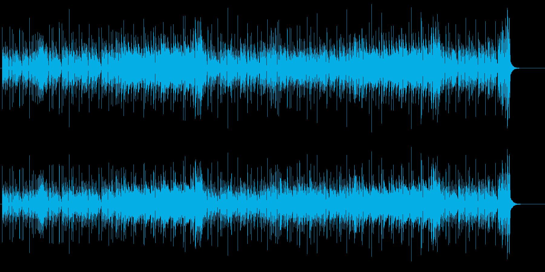軽快に弾むキャッチーなフュージョンの再生済みの波形