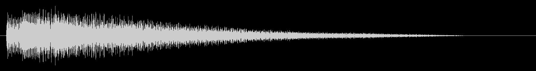 【ピアノ生演奏】少し物悲しいジングルの未再生の波形