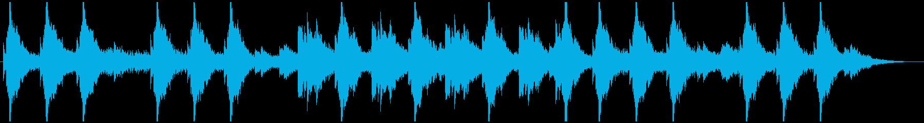 オルゴールの旋律が怪しいホラー曲の再生済みの波形