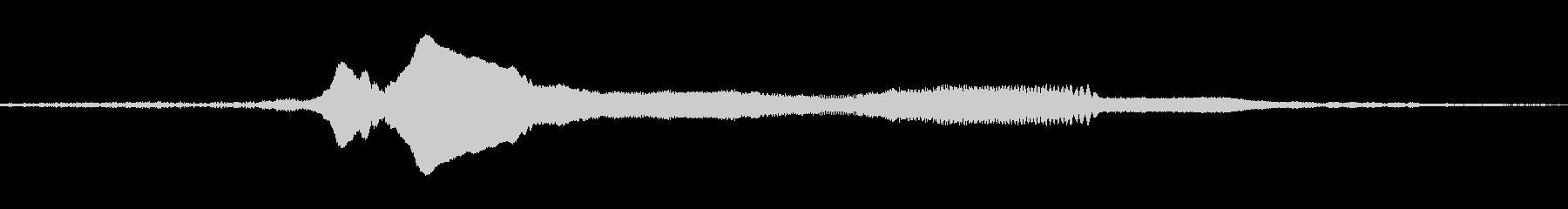 ウルフハウルシングルの未再生の波形
