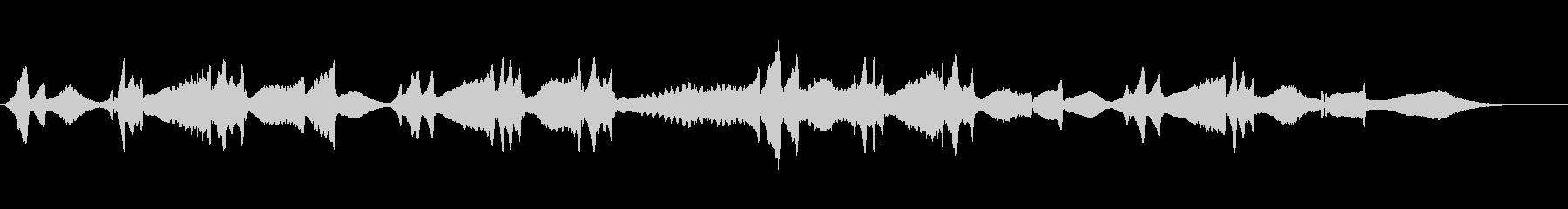 アメージンググレースのヴァイオリンソロの未再生の波形