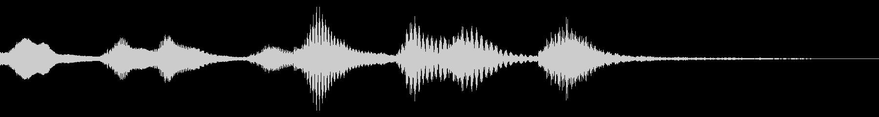 バイオリンとトライアングルのジングルの未再生の波形