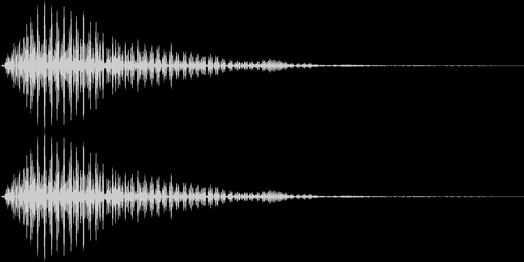 ポンッ(操作音 カーソル音 キャンセル)の未再生の波形