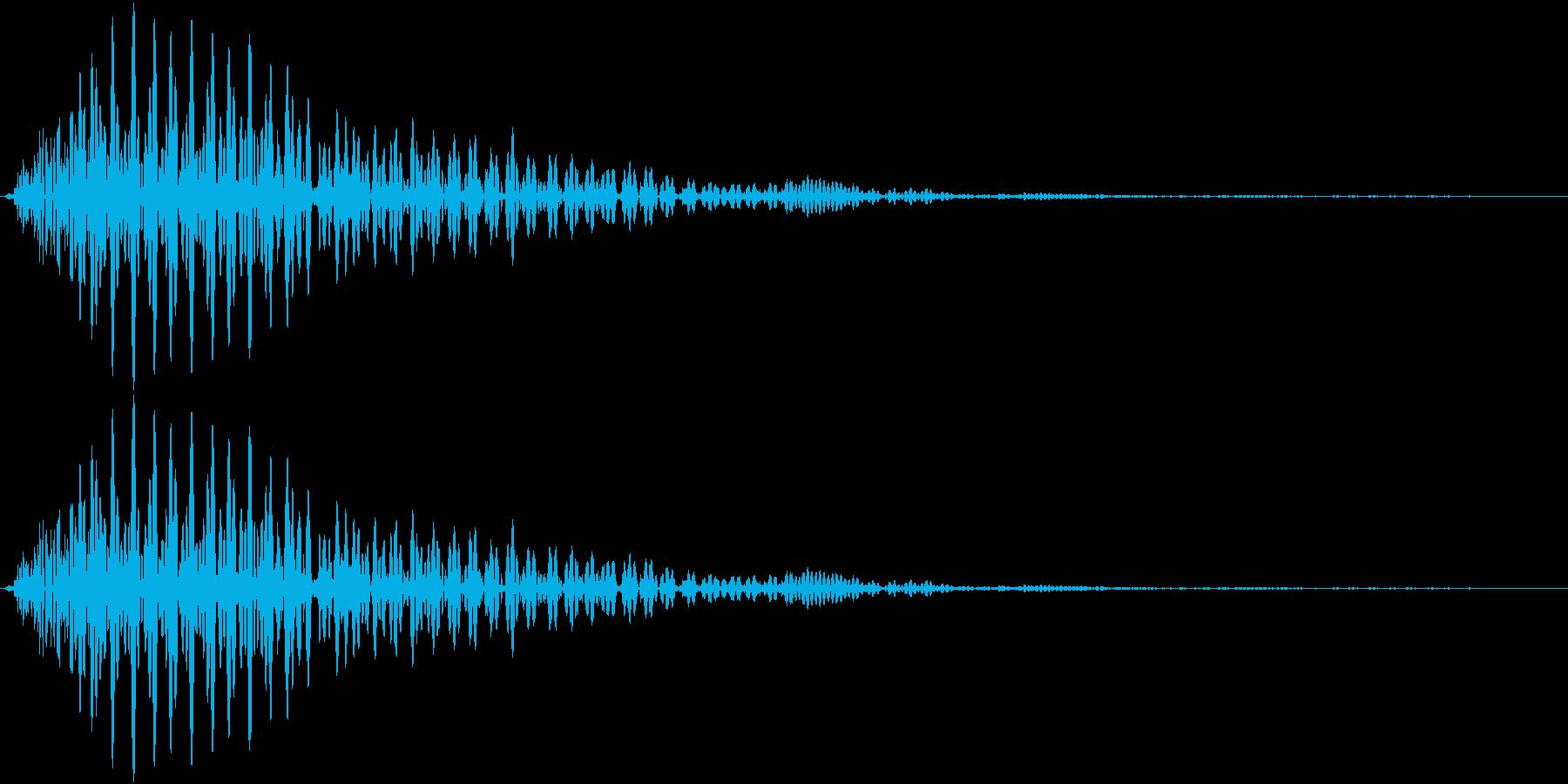 ポンッ(操作音 カーソル音 キャンセル)の再生済みの波形