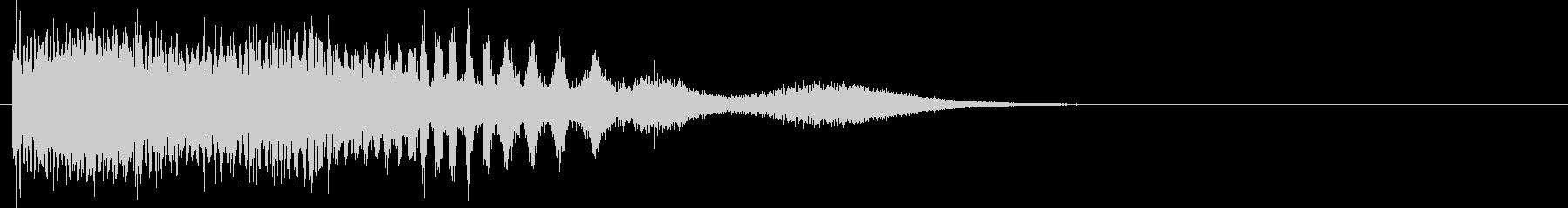 機械的な下降音の未再生の波形