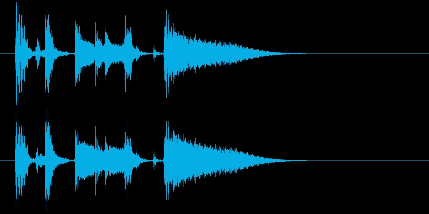 アコギとシェイカーのまったりジングルの再生済みの波形