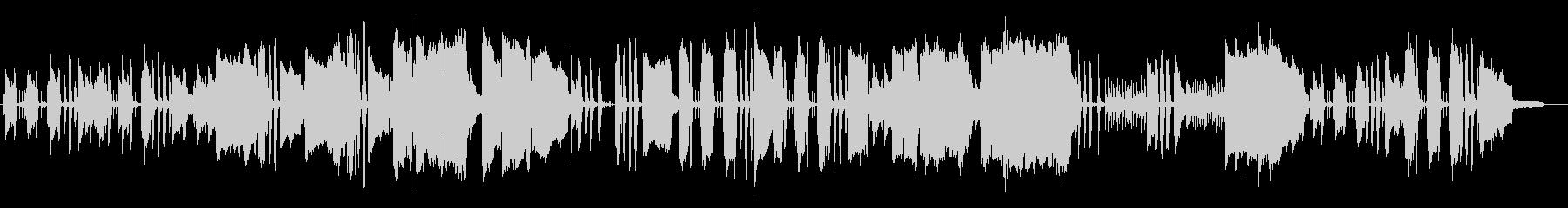 クラリネットとオーボエ、木琴の優しい音楽の未再生の波形