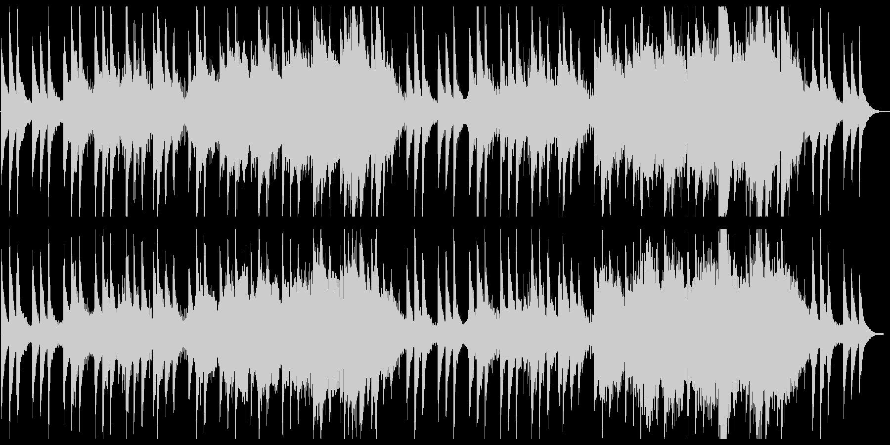 上品で感動的なピアノとストリングスの未再生の波形