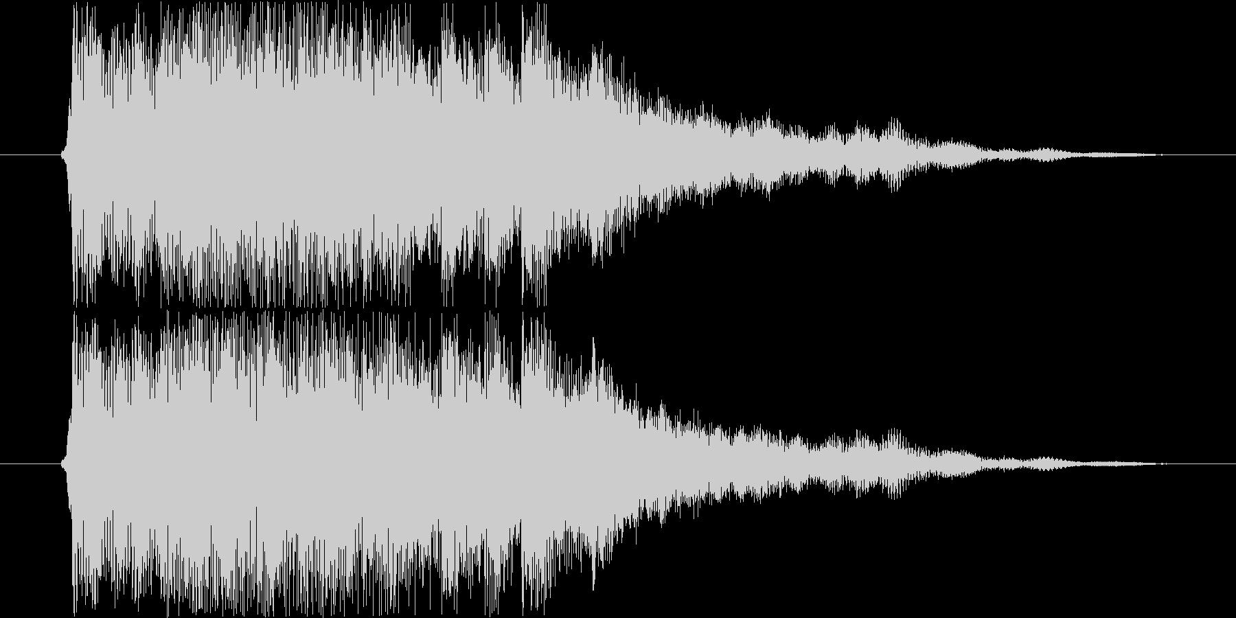 ベルとストリングスのジングルの未再生の波形
