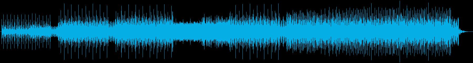 クールな4つ打ちハウス ループ系の再生済みの波形