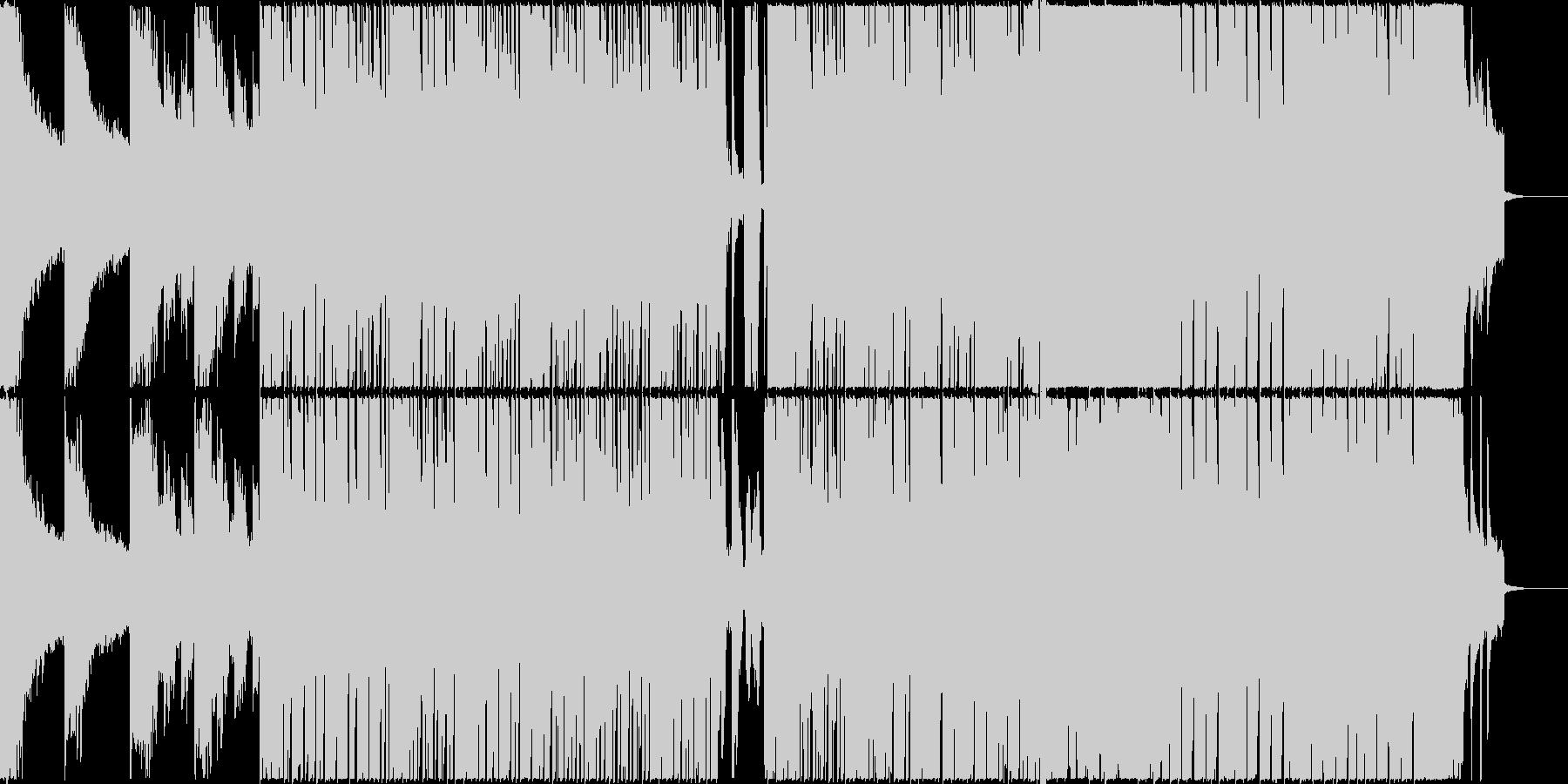 ワクワク ピアノ エレクトロ ハッとするの未再生の波形