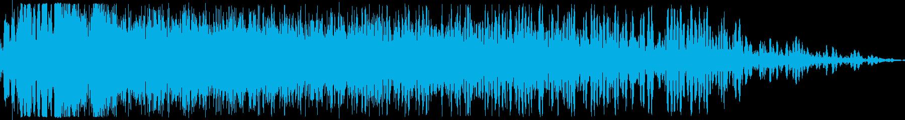 必殺技ヒット(強烈な打撃音)の再生済みの波形
