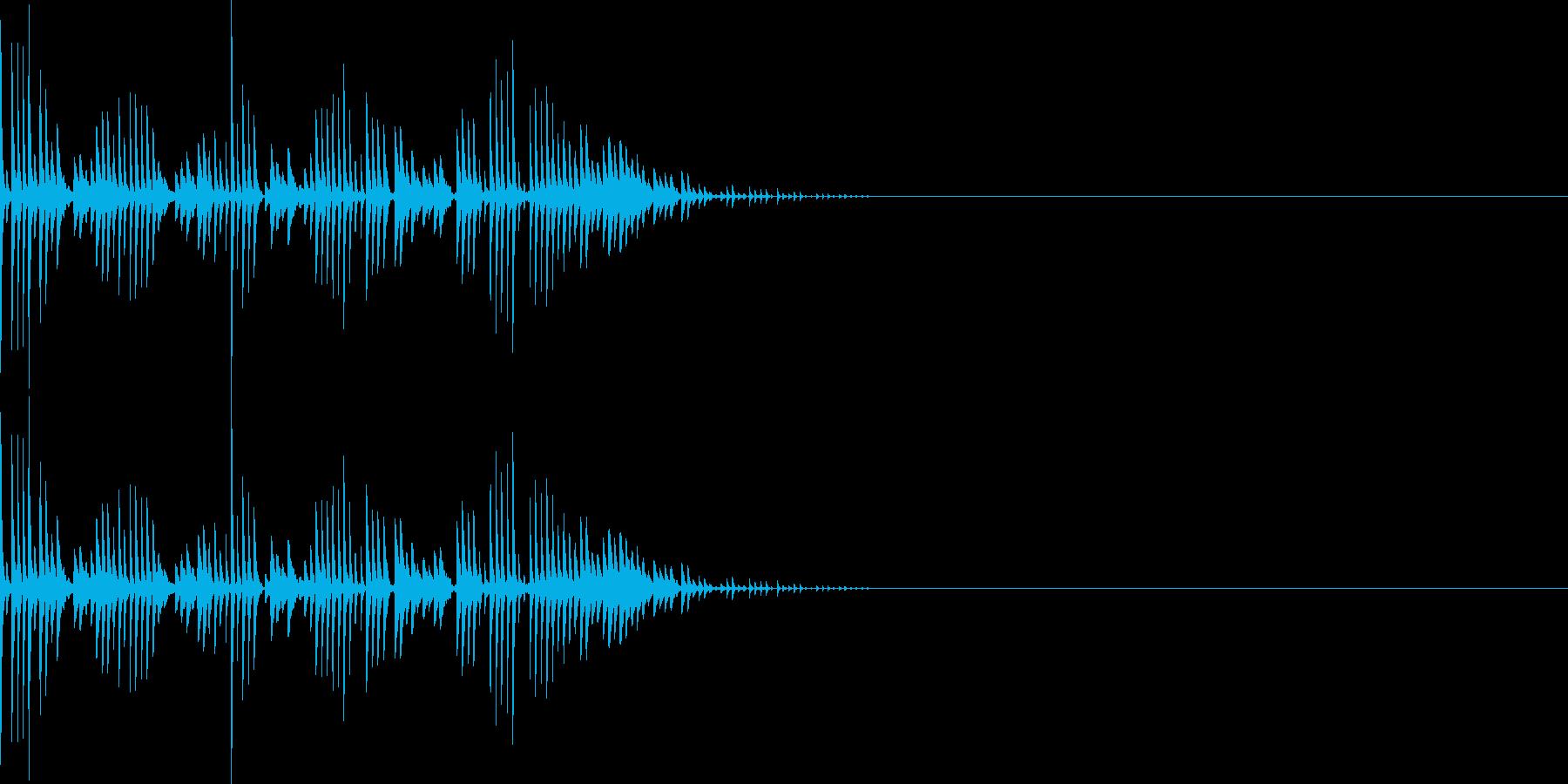 シュワワワ(マイナスイメージ_ミス)の再生済みの波形