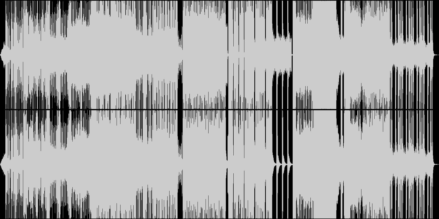 イケイケシンセのバンドサウンドの未再生の波形