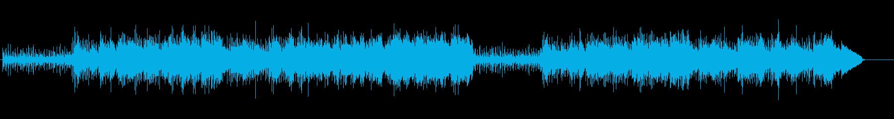 カリブっぽい乾いたシンセのフュージョンの再生済みの波形