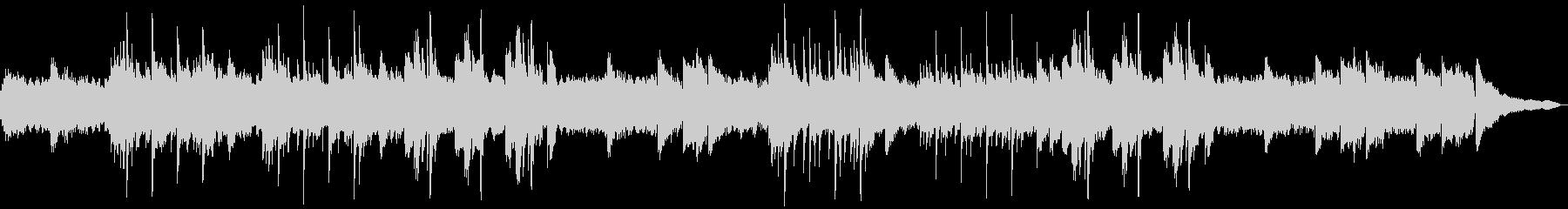 前向きなイメージのソロピアノの未再生の波形