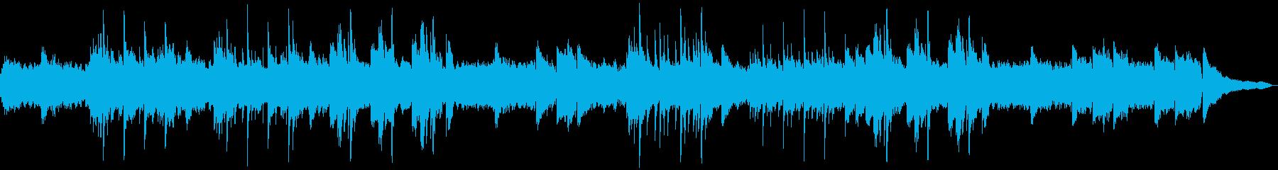 前向きなイメージのソロピアノの再生済みの波形