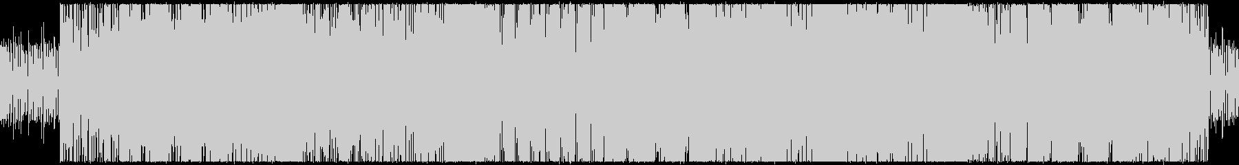 トランペット主体のテクノ風BGMの未再生の波形