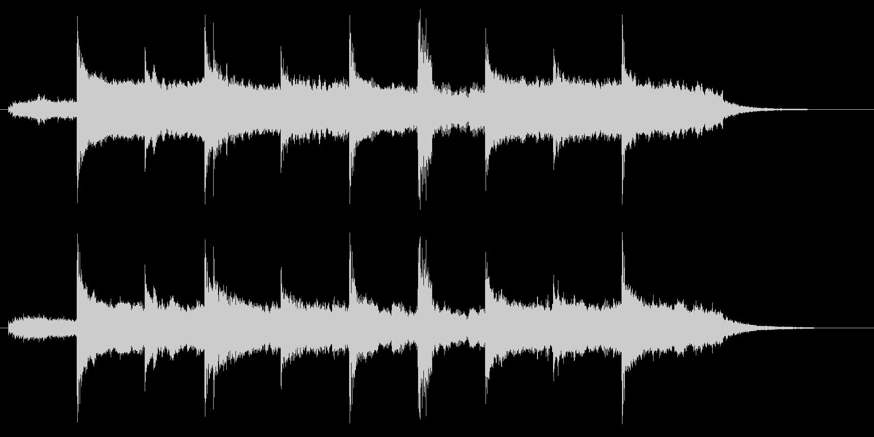幻想的でスローテンポなリラクゼーション曲の未再生の波形