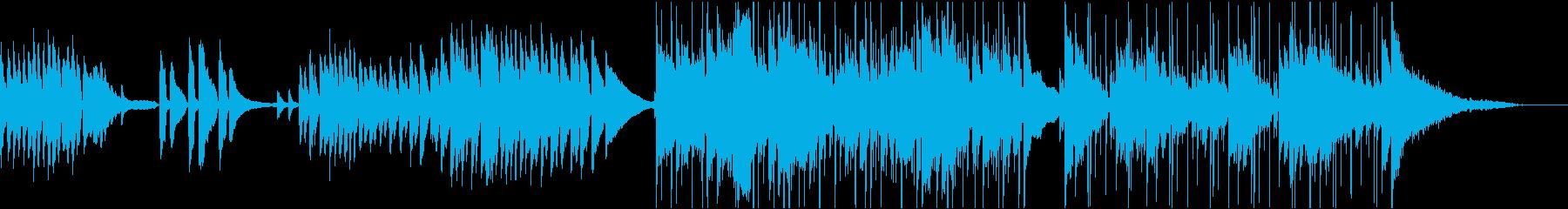 民族楽器使用、やや和風で落ち着いた楽曲の再生済みの波形