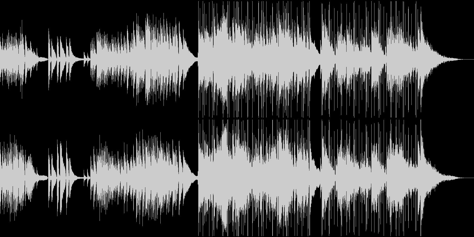 民族楽器使用、やや和風で落ち着いた楽曲の未再生の波形