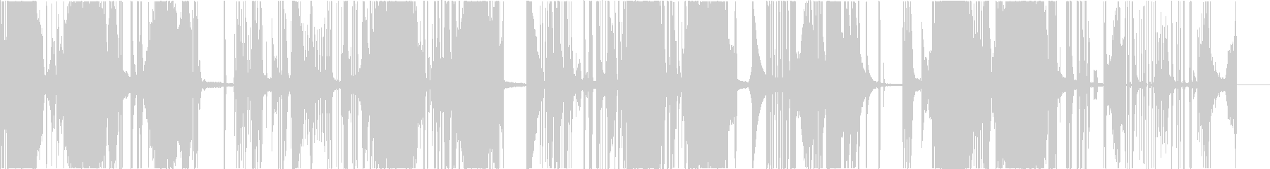 変則的なビートの未再生の波形
