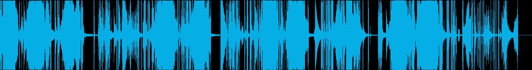 変則的なビートの再生済みの波形