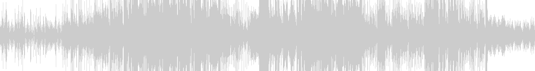 ピアノのリフが印象的で科学な雰囲気の未再生の波形