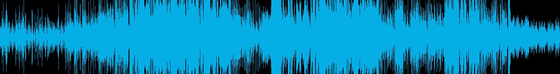 ピアノのリフが印象的で科学な雰囲気の再生済みの波形