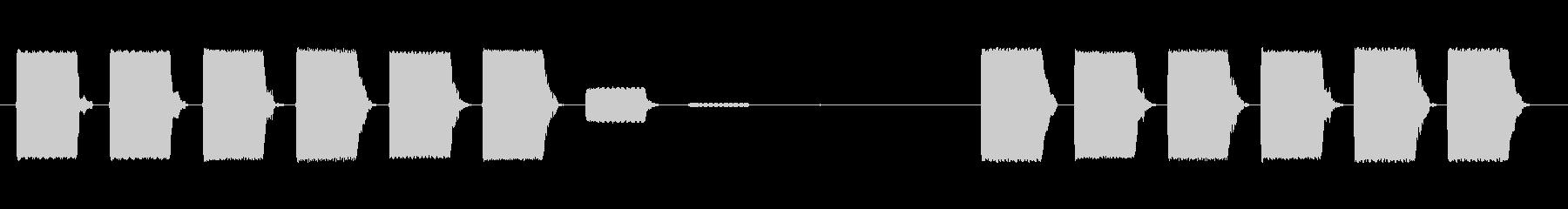 ビープパルスの未再生の波形