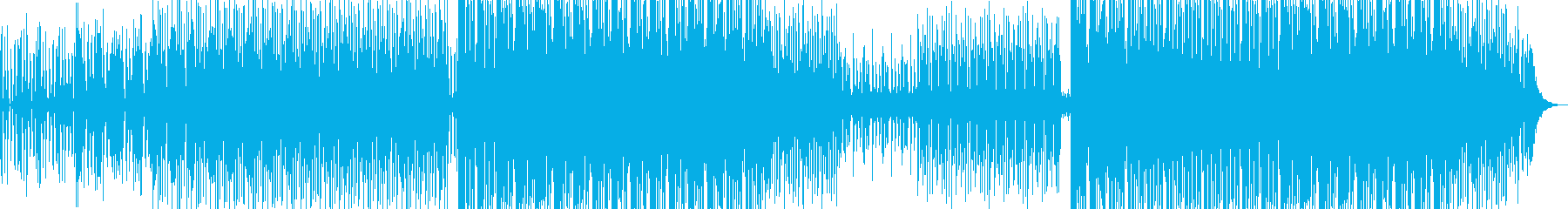 ニュース向けBGM(リズムグルーヴ)の再生済みの波形
