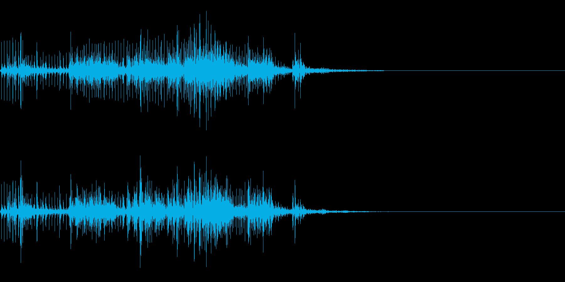 スパーク音-27の再生済みの波形