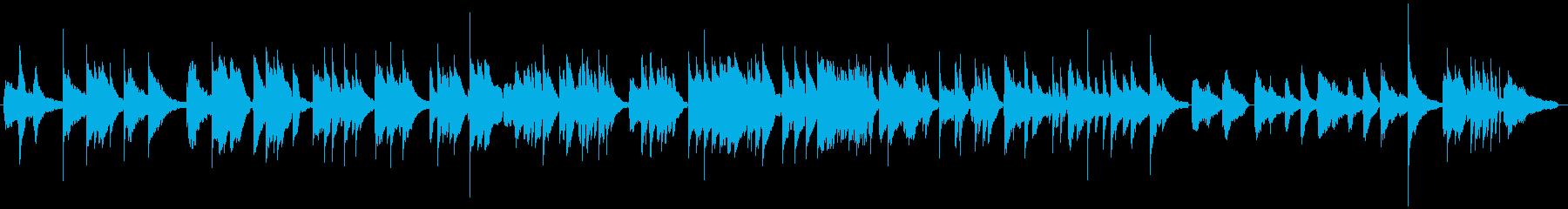 ピアノジャズボサノバBGMの再生済みの波形