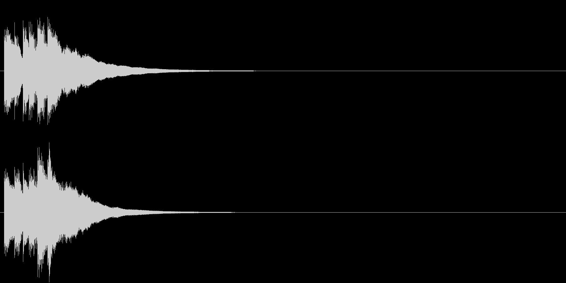 キラキラ  宇宙 決定 星 グロッケン2の未再生の波形