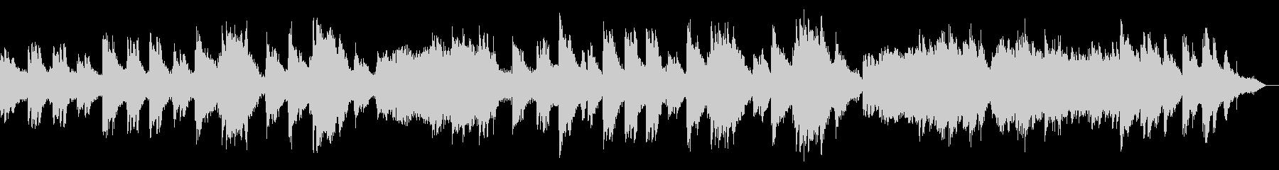 雪国の故郷を表現したシンセボイスピアノ曲の未再生の波形