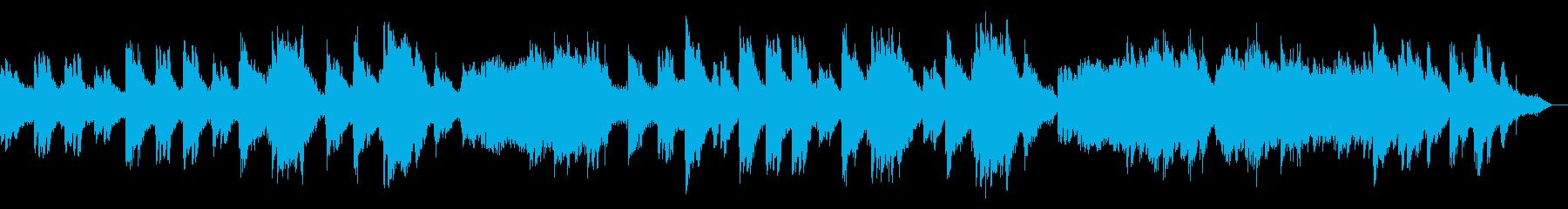雪国の故郷を表現したシンセボイスピアノ曲の再生済みの波形