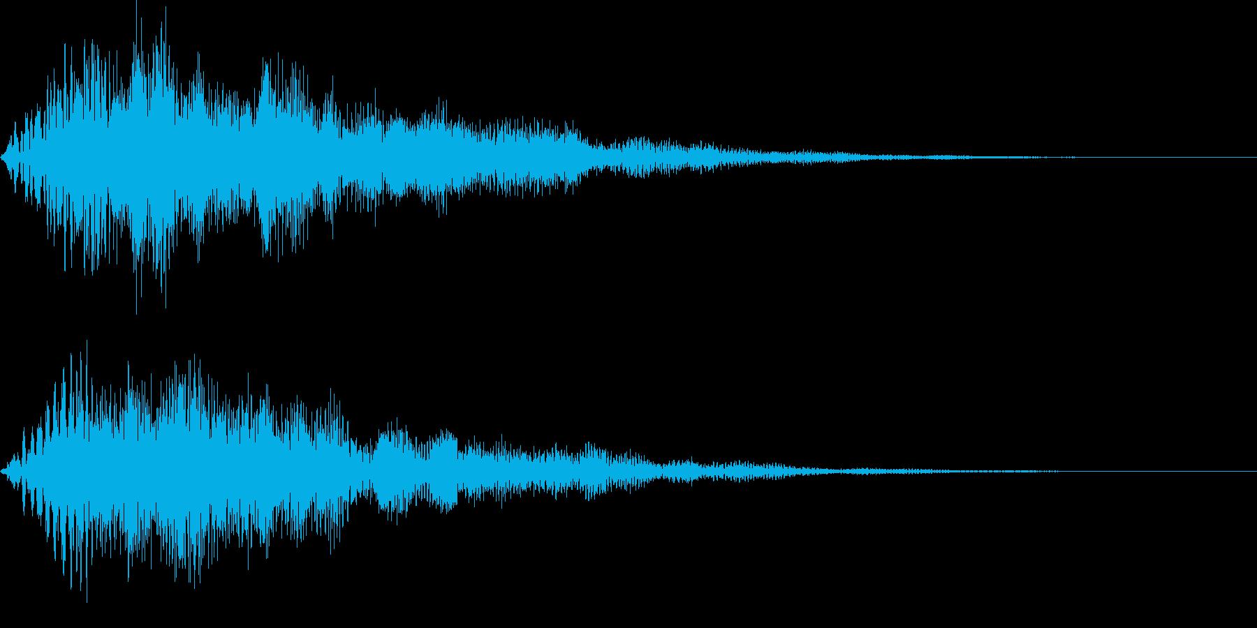 成功時に使いやすいキラキラ系の再生済みの波形