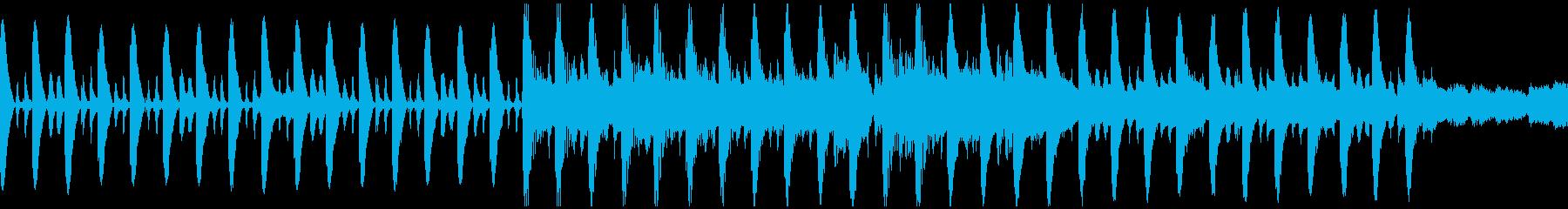 のんびりした昼下がりのようなBGM楽曲の再生済みの波形