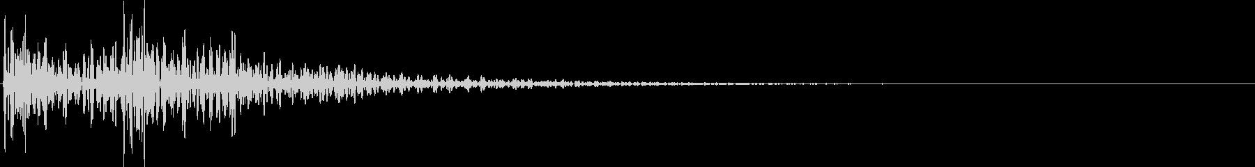 太鼓 決定音の未再生の波形