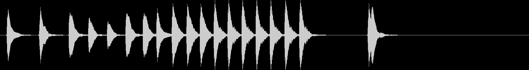 和風 和太鼓 鼓つづみよくあるパターンの未再生の波形