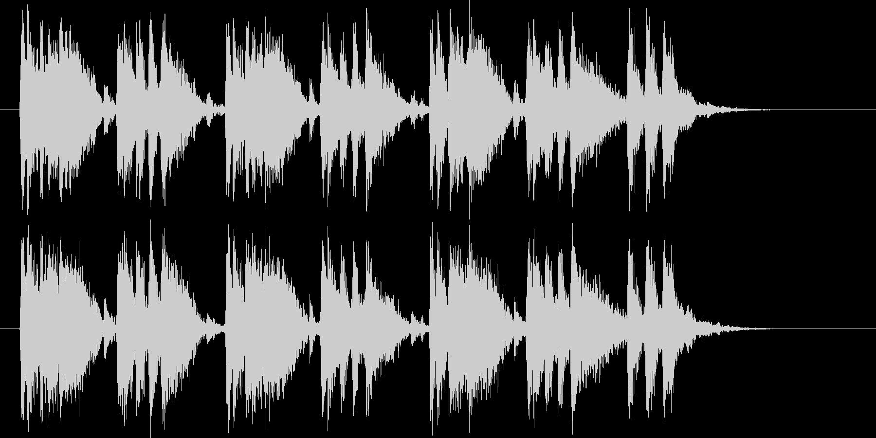 躍動感あるキャッチ―シンセポップジングルの未再生の波形