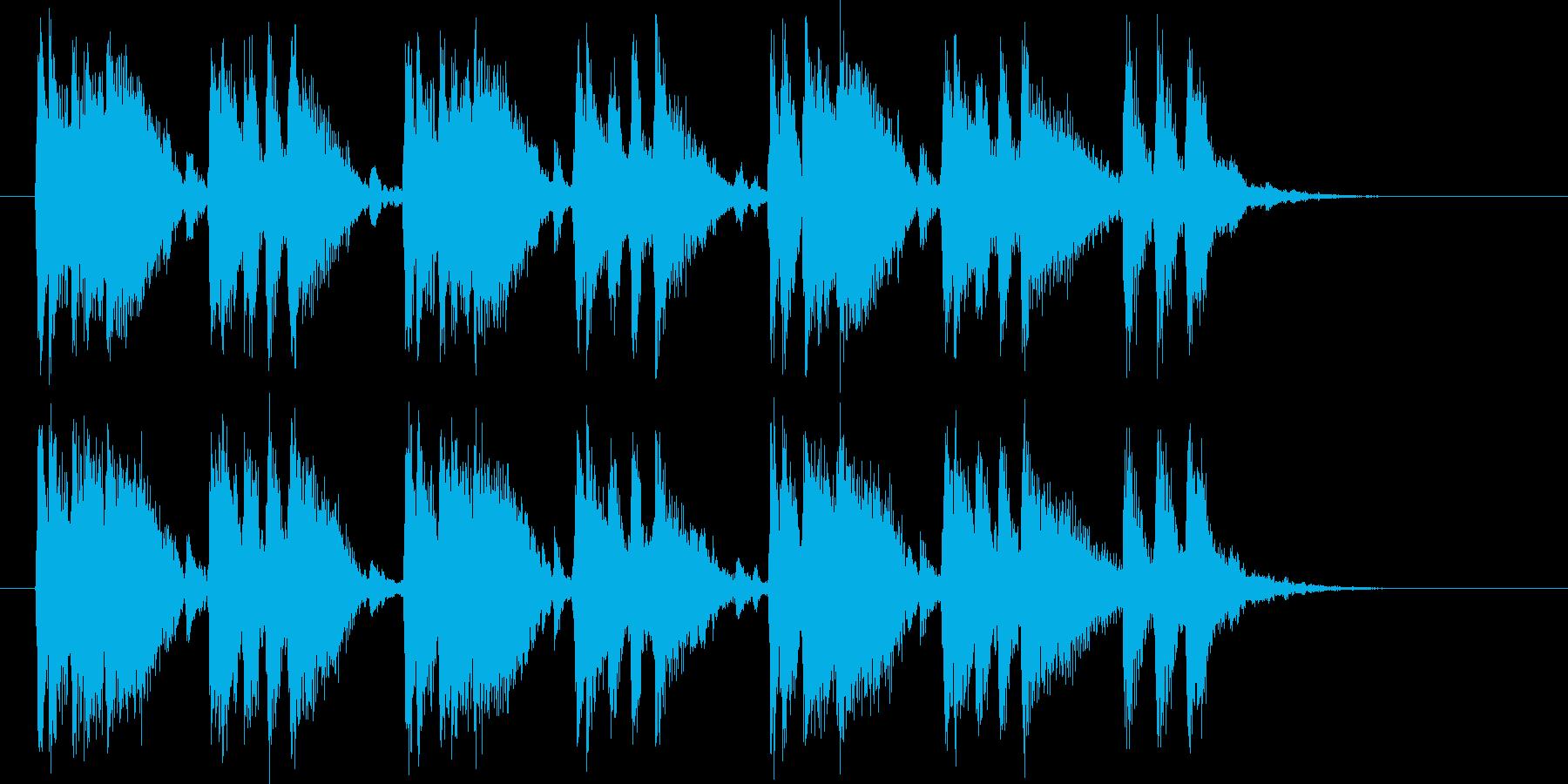 躍動感あるキャッチ―シンセポップジングルの再生済みの波形