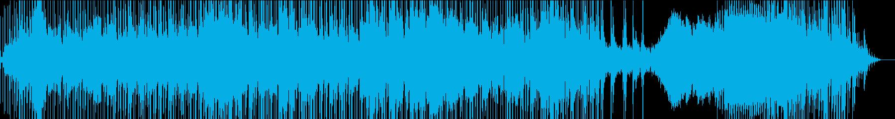 ジャズ風のオープニング曲の再生済みの波形