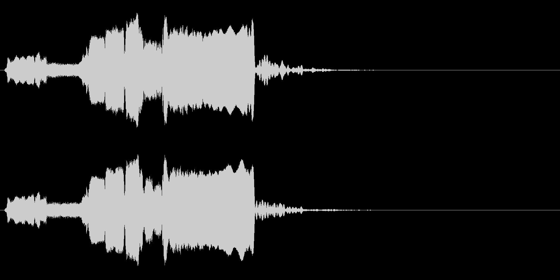 はじまり(早め)◆篠笛生演奏の和風効果音の未再生の波形