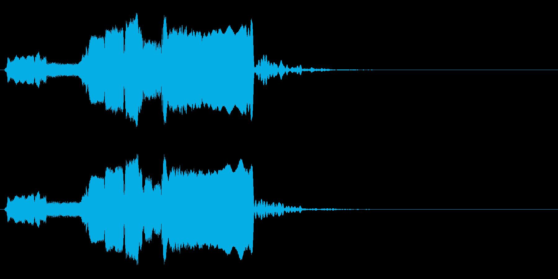 はじまり(早め)◆篠笛生演奏の和風効果音の再生済みの波形