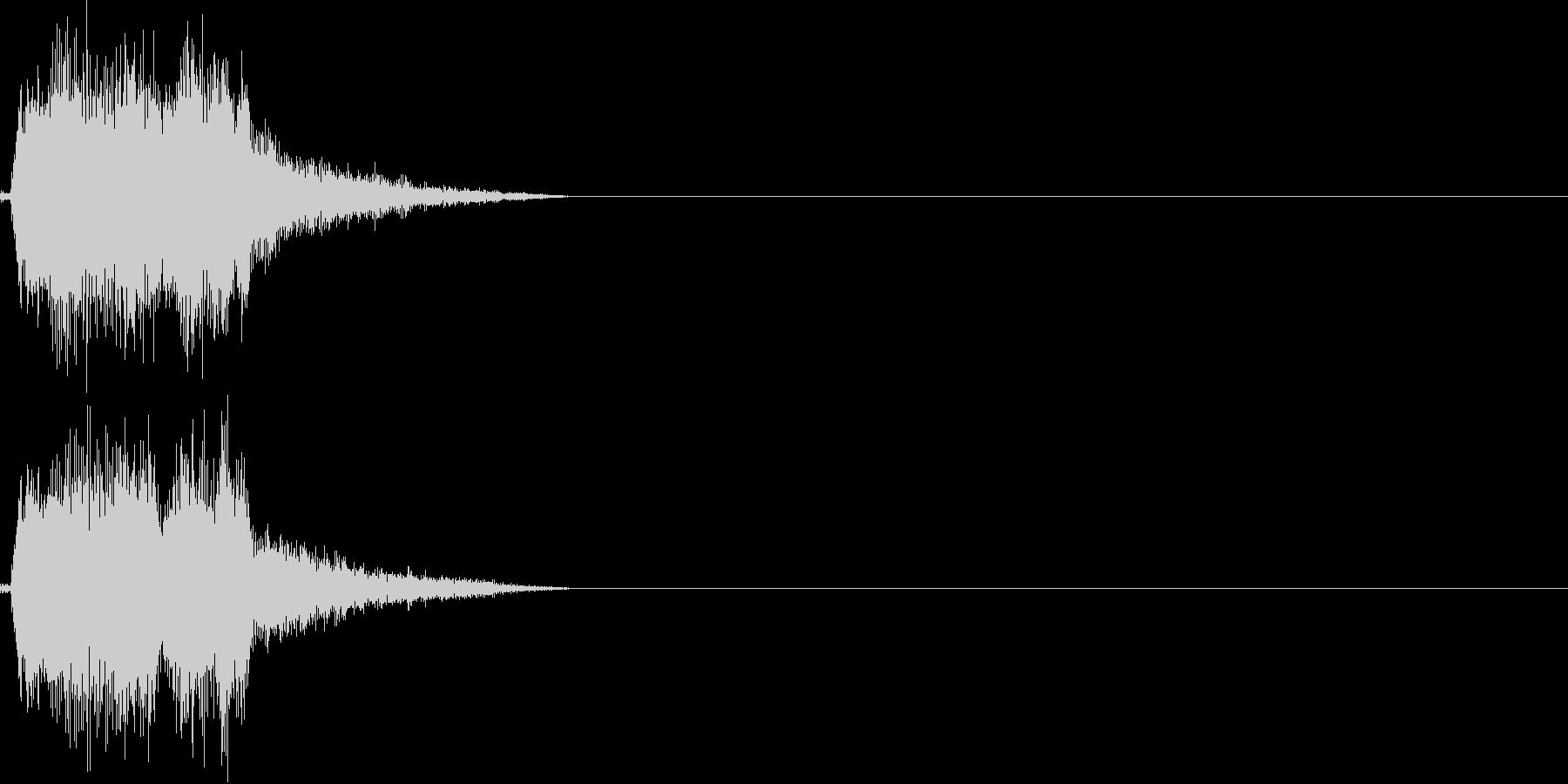 決定音(若干ゲーム寄り)の未再生の波形